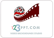 Import video movies into PowerPoint and use them as video backgrounds with the 123PPT Video Backgrounds Studio for PowerPoint